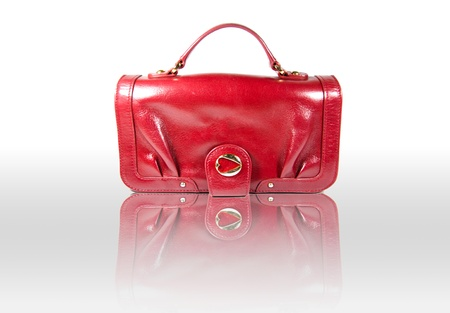 image of red  bag on white background Stock Photo - 17715367