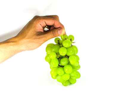 A grape is the non-climacteric fruit that grows on the perennial photo