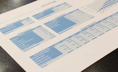 Revenue Expenditure documents on the table