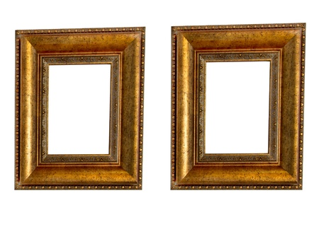 Beautiful wooden frames on white background  Stock Photo - 19484087