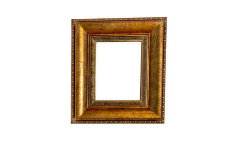 Beautiful wooden frames on white background  Stock Photo - 19471408