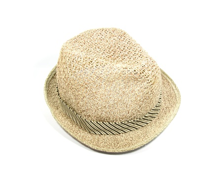 Brown hat isolated on white photo