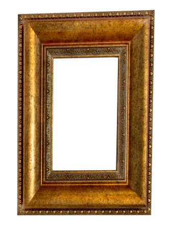 Beautiful wooden frames on white background Stock Photo - 19471412