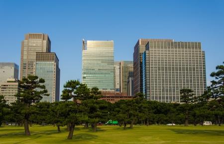 Pr�dio em T�quio, no Jap�o C�u azul bonito