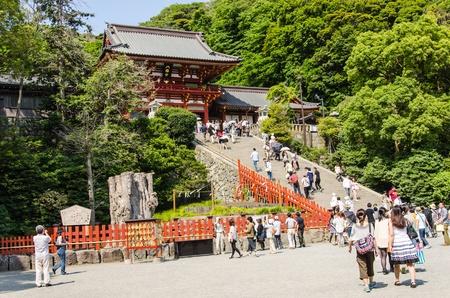 hachimangu: JAPAN-JUNE 8:Tsurugaoka Hachimangu Shrine, June 08, 2013 in Kamakura, Japan. One the most important Shinto shrine in Kamakura and an Important Cultural Property of Japan.