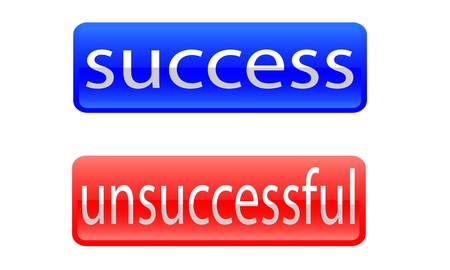 icon to success and unsuccessful. Vector