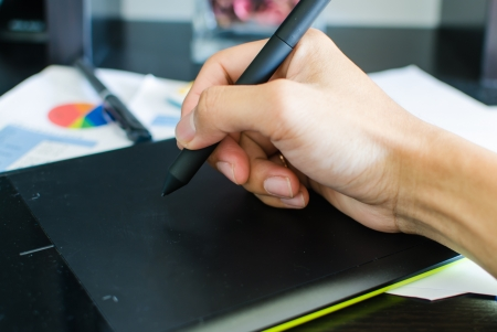 Mouse pen  Placed on a desk in black