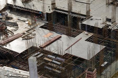 Funda��o faz para um novo edif�cio em constru��o Banco de Imagens