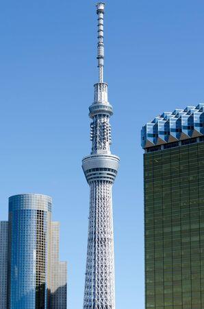 TOKYO,JAPAN-OCT 11 : Building Tokyo Sky Tree.on Oct 11,2013 in Tokyo, Japan.