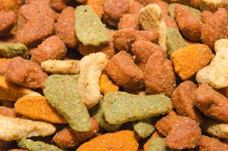 close range: The dog food photos at close range.