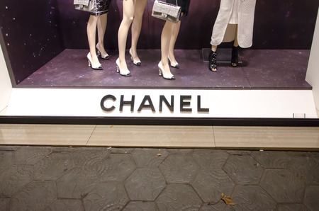 BARCELONA, SPAIN - DEC 29: Chanel shop on the street Passeig de Gracia in Barcelona. A shopping district.December 29, 2013 CHANEL operates some 310 Chanel boutiques worldwide.