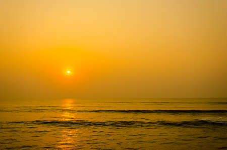 peaceful background: The light of sunset  on the sea