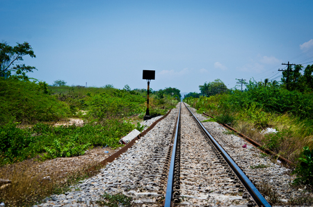 Railway in the daytime Thailand a traditional photo