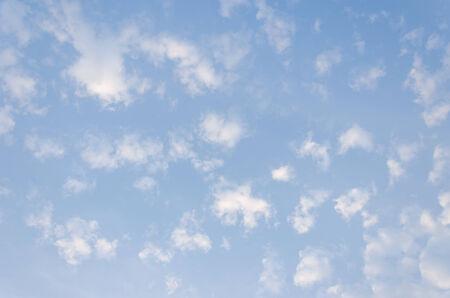 c�u azul com nuvens closeup Banco de Imagens