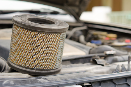 Car Air Filters Located in the a car bonnet photo