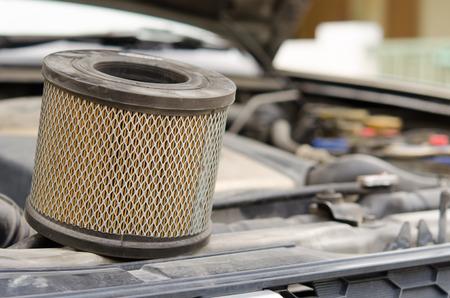 Car Air Filters Located in the a car bonnet