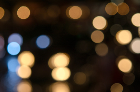 Bokeh lights of many colors. photo