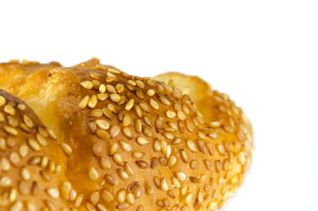 sesame bread isolated on the white background. photo