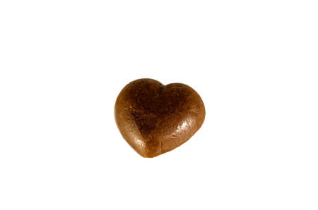 heart Chocolate isolated on the white background. photo