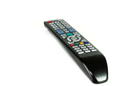 remote control tv isolated on the white photo