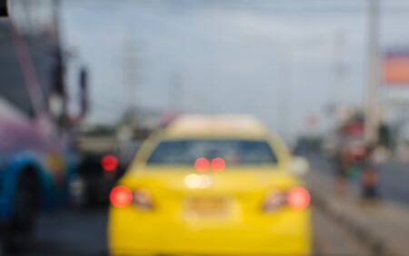 overtaking: blur car on the road. Stock Photo
