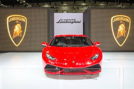 international sales: BANGKOK - AUGUST 20, 2014 : Lamborghini on display at Bangkok International Grand Motor Sales 2014 Exciting Modified Car Show on August 20, 2014 in Bangkok, Thailand.