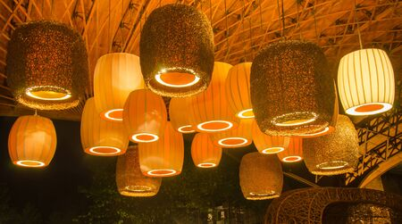 Lamp beautiful under the roof photo