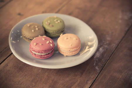 color effect: Macaron  on the table.film style color effect