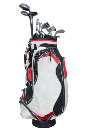 golf bag: golf club isolated on the white background.