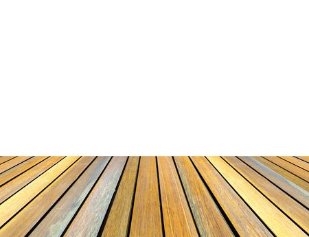 white wood floor: Wood floor isolated on white background for copy space
