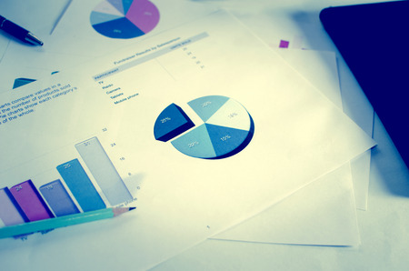 business graph on the desk. Stock Photo