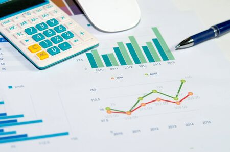 finance concept: analyzing report, business performance concept