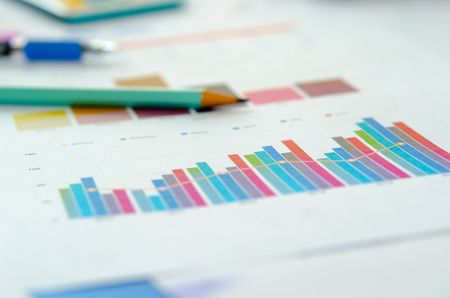 financial graph: Business finance, accounting, statistics and analytic research concept