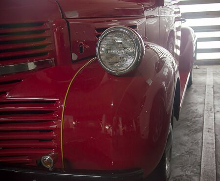shiny car: Headlight lamp vintage  car - vintage effect style pictures