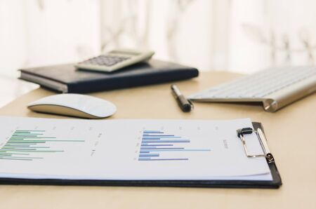 accounting: Business finance, accounting, statistics and analytic research concept