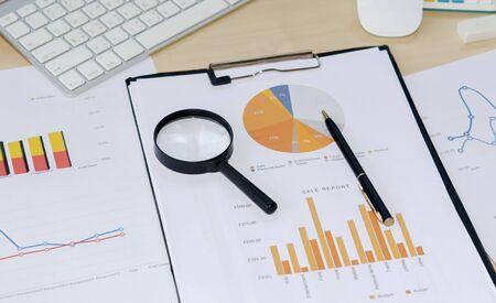 reporte: gr�ficos de colores, gr�ficos, investigaci�n de mercados y negocios de fondo del informe anual