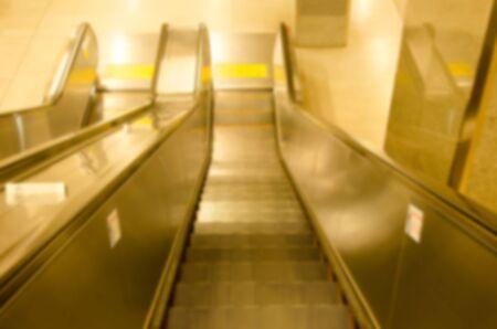blur subway: Abstract blur subway escalators Stock Photo