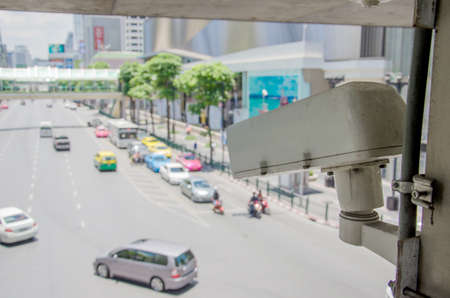 closed circuit television: CCTV cameras for watching traffic