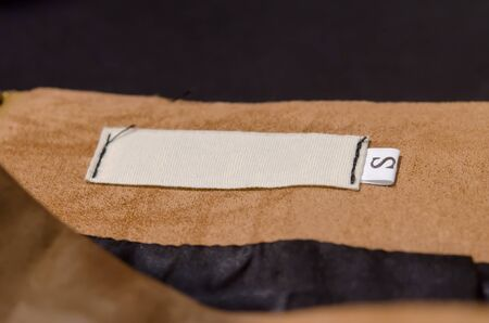 collar: collar with blank label