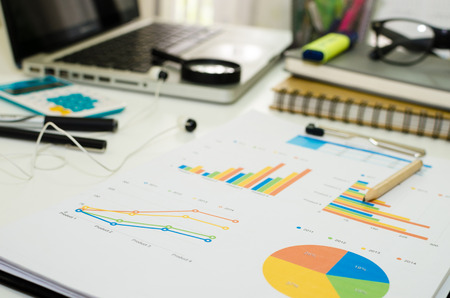 financial graph: finance charts and graphs, finance investment business concept