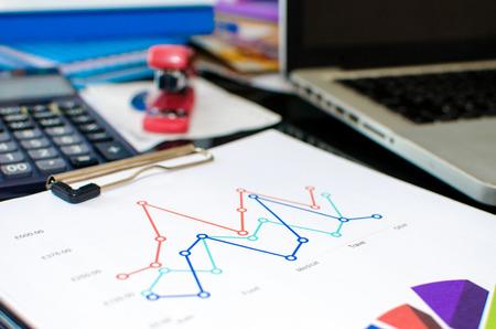 hoja de calculo: Desk office and Graph analysis spreadsheet