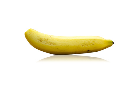 banana isolated on the white.