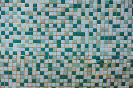 green tone: Green tone mosaic tiles texture background