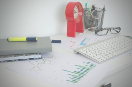analytic: Business finance, accounting, statistics and analytic research concept.filter hipster