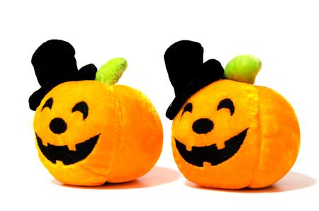 pumpkin halloween on the white background.