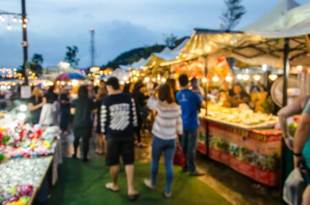 Blur Festival food night market for background usage.