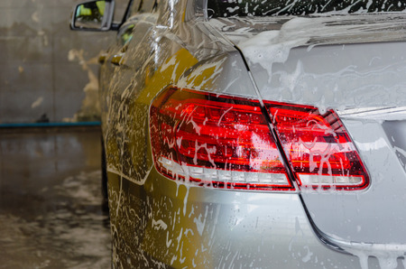 Car with Foam Wash