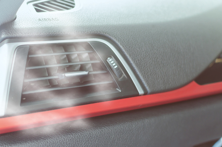 air conditioning inside the car.