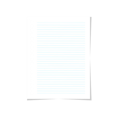 Vector blank paper line Foto de archivo - 124274046