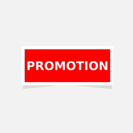 sticker red label promotion vector